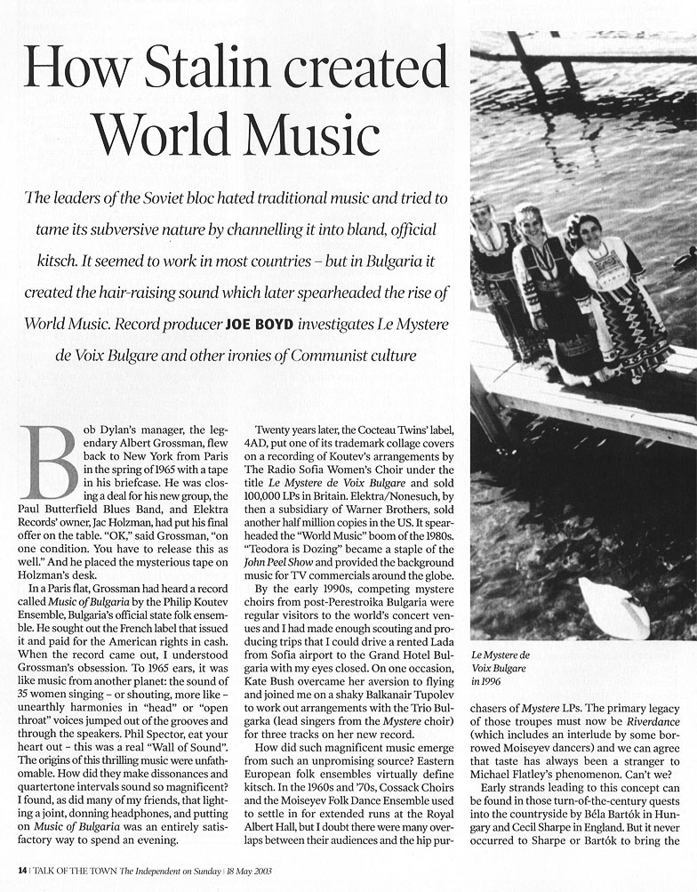 How Stalin Created World Music Page 1